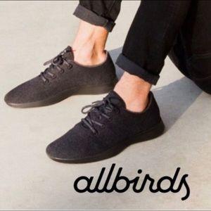 allbirds the wool runners men's gray black size 9